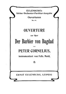 The Barber of Baghdad: Overture by Peter Cornelius