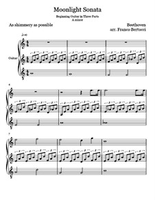 All Movements: For guitar by Ludwig van Beethoven