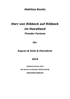 Herr von Ribbeck on Ribbeck in the Havelland: Herr von Ribbeck on Ribbeck in the Havelland by Matthias Bonitz