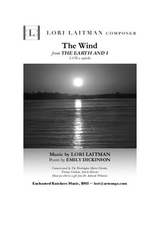 The Earth and I: The Wind (Song 3) priced for 20 copies by Lori Laitman
