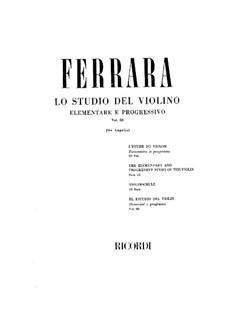 Elementary and Progressive Violin School: Volume III by Bernardo Ferrara