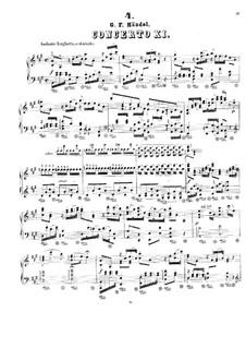Concerto Grosso No.11, 12, HWV 329, 330: Concerto Grosso No.11, 12 by Georg Friedrich Händel