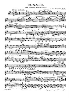 Sonata for Violin and Piano No.10, Op.96: Solo part by Ludwig van Beethoven