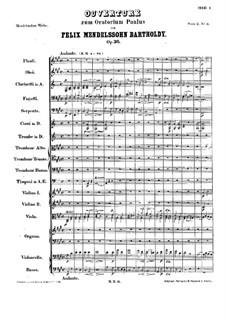 St. Paul, Op.36: Overture by Felix Mendelssohn-Bartholdy