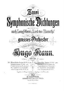 Zwei symphonische Dichtungen. Nr.2 Hiawatha, Op.43: Zwei symphonische Dichtungen. Nr.2 Hiawatha by Hugo Kaun
