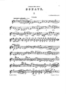 Violin Sonata, Op.52: Solo part by Eduard Napravnik