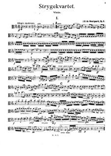 String Quartet in C Minor, Op.6: Viola part by Joachim Neergaard