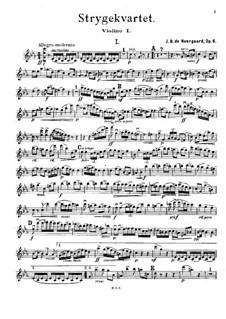 String Quartet in C Minor, Op.6: Violin I part by Joachim Neergaard