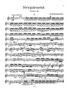 String Quartet in C Minor, Op.6: Violin II part by Joachim Neergaard