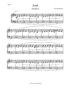 Faith (Easier Version) Easy Piano, Op.2: Faith (Easier Version) Easy Piano by Cody Weinmann