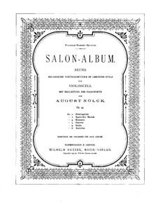 Salon-Album. Sechs Stücke, Op.43: Score by August Nölck
