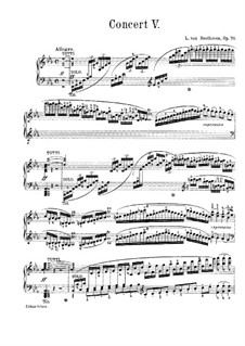 Complete Concerto: Version for piano by Ludwig van Beethoven