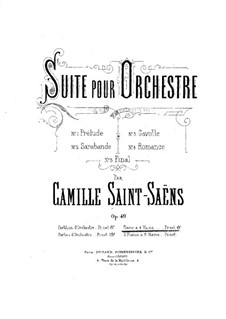 Suite in D Major, Op.49: For piano four hands by Camille Saint-Saëns