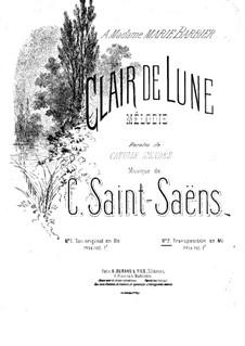 Clair de lune (Moonlight): Piano-vocal score by Camille Saint-Saëns