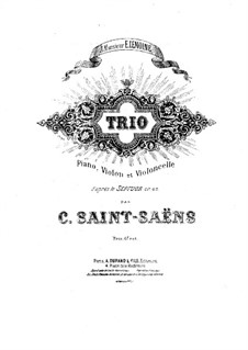 Septet in E Flat Major, Op.65: Version for piano trio – violin part by Camille Saint-Saëns