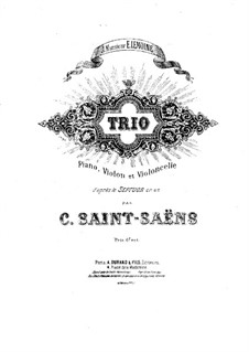 Septet in E Flat Major, Op.65: Version for piano trio – cello part by Camille Saint-Saëns
