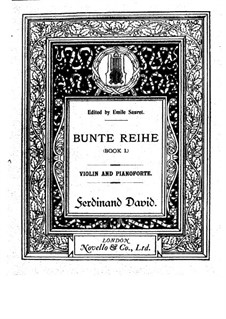 Bunte Reihe, Op.30: Complete set by Ferdinand David