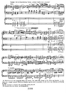 Concerto for Piano and Orchestra No.1, Op.15: Movement II, for two pianos four hands by Ludwig van Beethoven