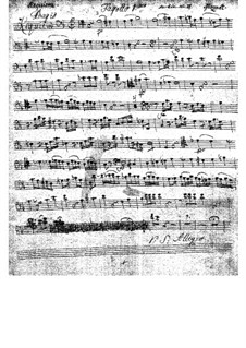 Complete Movements: Bassoon I part by Wolfgang Amadeus Mozart