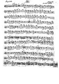 Complete Movements: Alto part by Wolfgang Amadeus Mozart