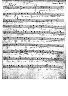 Complete Movements: Tenor part by Wolfgang Amadeus Mozart