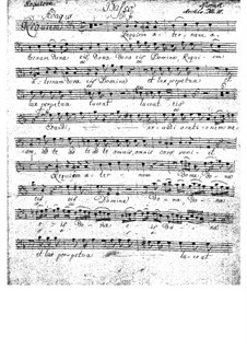 Complete Movements: Bass part by Wolfgang Amadeus Mozart