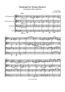 Madrigal: For brass quartet by Jordan Grigg