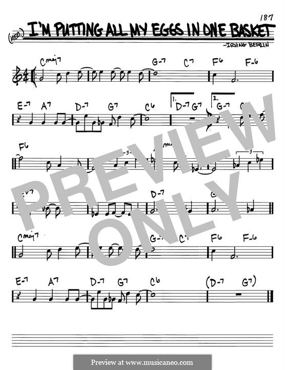 I'm Putting All My Eggs in One Basket: For guitar with tab by Irving Berlin
