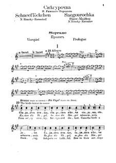 The Snow Maiden: Soprano part by Nikolai Rimsky-Korsakov