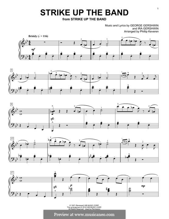 Strike Up the Band: For piano by George Gershwin