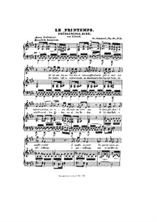 Frühlingsglaube (Faith in Spring), D.686 Op.20 No.2: German and french texts by Franz Schubert