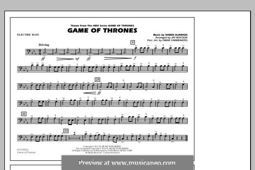 Game of Thrones (arr. Jay Bocook): Electric Bass part by Ramin Djawadi