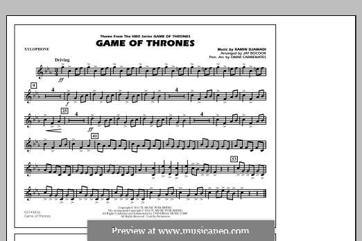 Game of Thrones (arr. Jay Bocook): Xylophone part by Ramin Djawadi