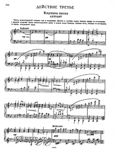 The Demon: Act III, Scenes V-VI, for voices and piano by Anton Rubinstein