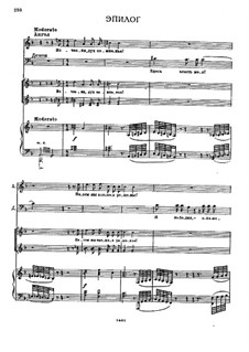 The Demon: Act III, Epilogue and Scene VII, for voices and piano by Anton Rubinstein