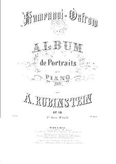 Rocky Islands, Op.10: Complete set by Anton Rubinstein