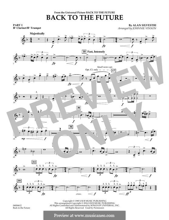 Back to the Future (Theme): Pt.1 - Bb Clarinet/Bb Trumpet part by Alan Silvestri