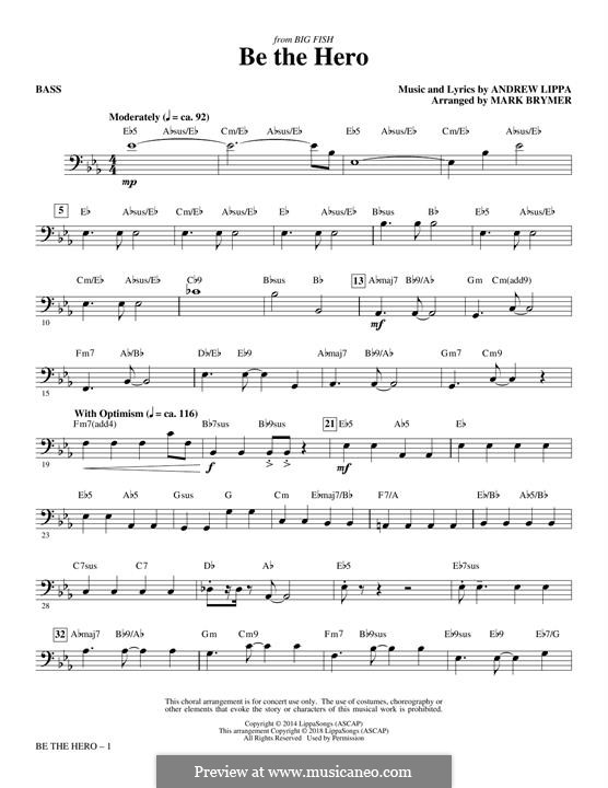 Be the Hero: Bass part by Andrew Lippa