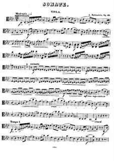 Sonata for Viola (or Cello) and Piano in F Minor, Op.49: Viola part by Anton Rubinstein
