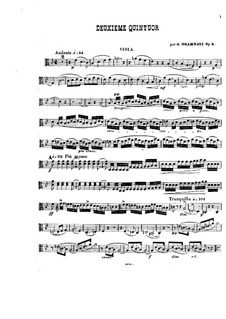 Piano Quintet No.2 in B Flat Major, Op.5: Viola and cello parts by Giovanni Sgambati
