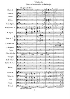 Jurisprudence March, TH 52: Full score by Pyotr Tchaikovsky