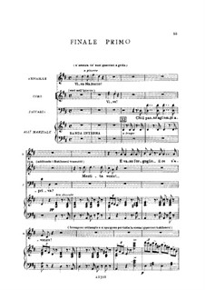 Fragments: Act I No.4, for soloists, choir and piano by Giuseppe Verdi