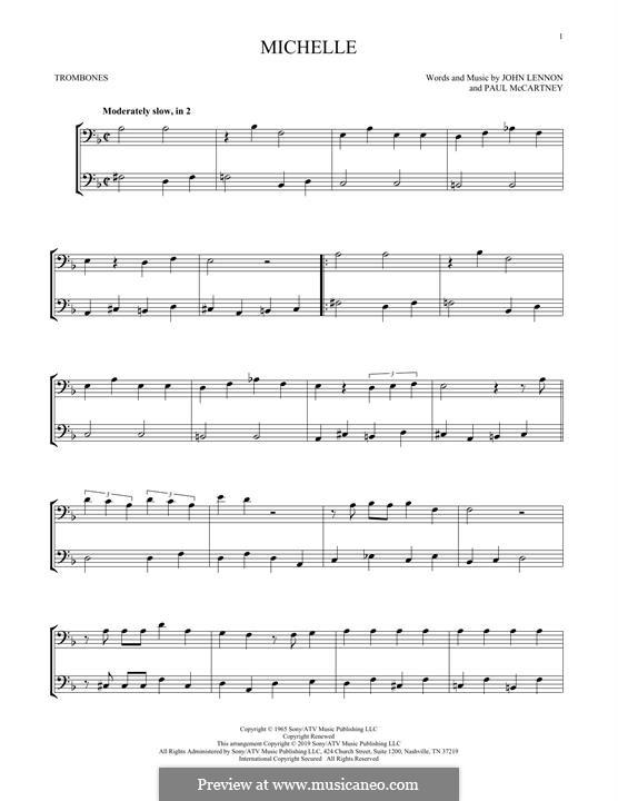 Michelle (The Beatles): For two trombones by John Lennon, Paul McCartney