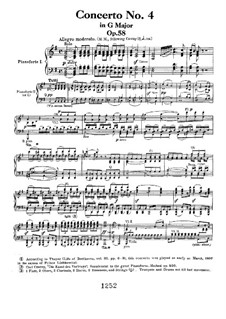 Fragments: Movement I, for two pianos four hands by Ludwig van Beethoven