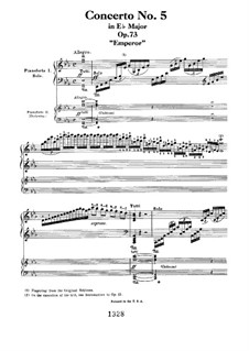 Fragments: Movement I. Version for two pianos four hands by Ludwig van Beethoven