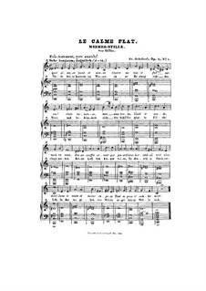 Meeres Stille (Calm at Sea), D.216 Op.3 No.2: Piano-vocal score by Franz Schubert
