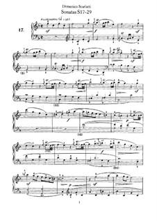 Sonatas for Harpsichord (or Piano): Supplement No.17-29 by Domenico Scarlatti