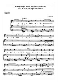 Lucrezia Borgia: Ah! Madre, se ognor lontano. Aria di Gennaro by Gaetano Donizetti