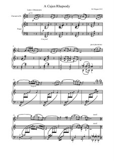 A Cajun Rhapsody: Score by Michael Regan