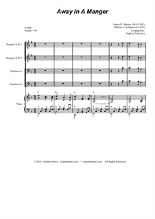 Away in a Manger Medley: For brass quartet and piano - alternate version by James R. Murray, William (James) Kirkpatrick